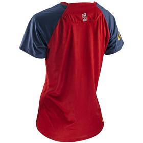 Leatt DBX 2.0 Jersey Short Sleeve Women, rojo/azul